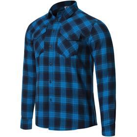 Protective P-Rockabilly Langarm Shirt Herren blau/schwarz
